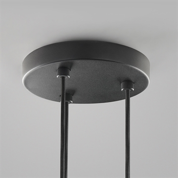 CEILING BASE Ø200/3 PENDANTS BLACK